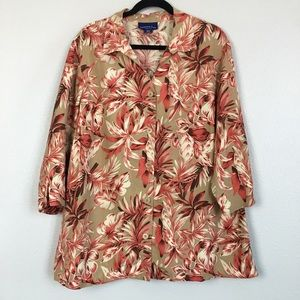 Charter Club Floral Hawaiian Blouse size 20